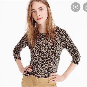 J Crew Leopard Tippi Sweatshirt
